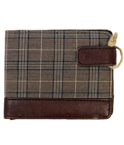 DUNLOP Retro Prince of Wales Check Wallet