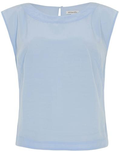 Edna EMILY & FIN Retro Women's Top in Sky Blue