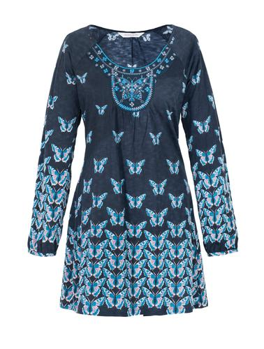 NOMADS RETRO 60s BOHO BUTTERFLY TUNIC TOP