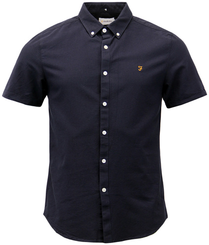 Brewer FARAH Retro 60s Short Sleeve Oxford Shirt