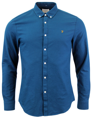 Brewer FARAH Retro Sixties Mod Mens Oxford Shirt