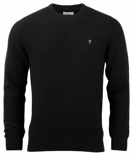 FARAH HILLINGDON RETRO SWEATER BLACK
