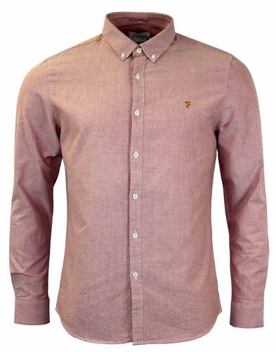 Brewer FARAH VINTAGE Retro Mod Oxford Shirt (RT)