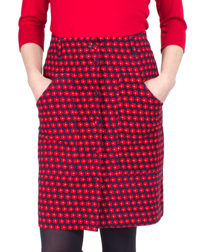 Gracie FEVER Retro 1960s Mod Flower A-Line Skirt