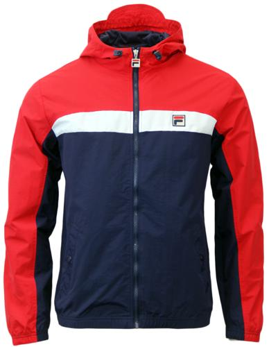 Clipper FILA VINTAGE Retro 70s Chest Stripe Jacket