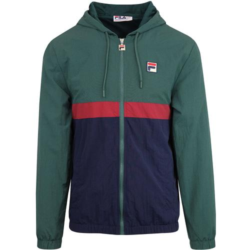 Fila Vintage Tate Shell Jacket in Green/Navy