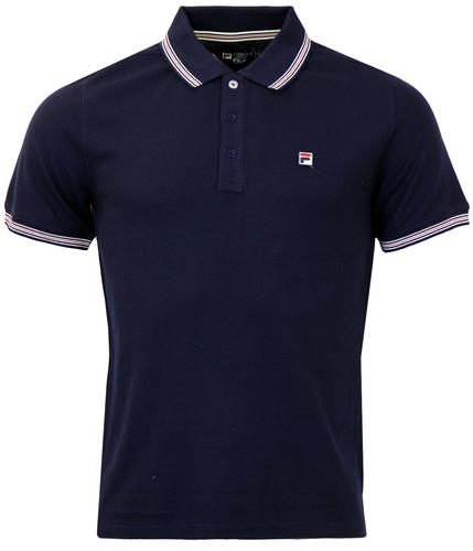 Matcho 3 FILA VINTAGE Retro Stripe Collar Polo (P)