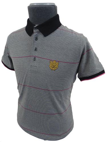 '52 Girls' FLY53 Retro Indie Mens Stripe Polo (C)