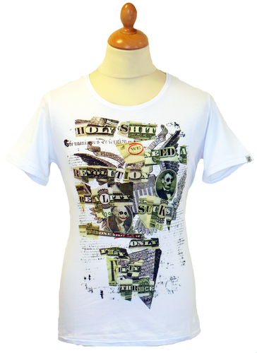 Trust No One FLY53 Retro Indie Collage Print Tee