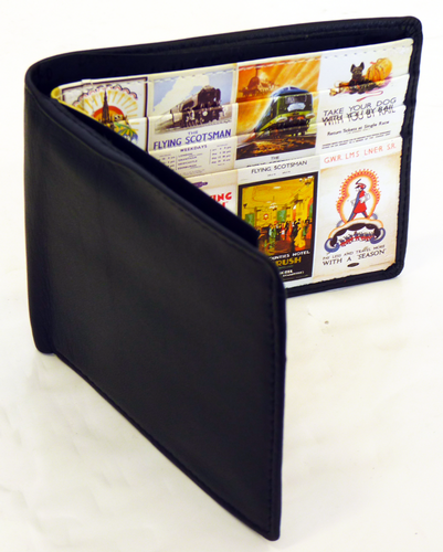 Flying Scotsman Mens Retro Vintage Wallet in Tin