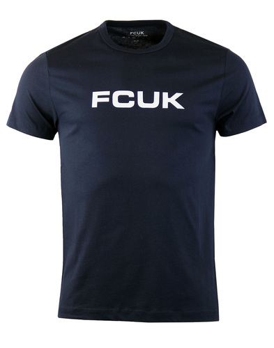 FRENCH CONNECTION FCUK Retro Bold Logo Tee