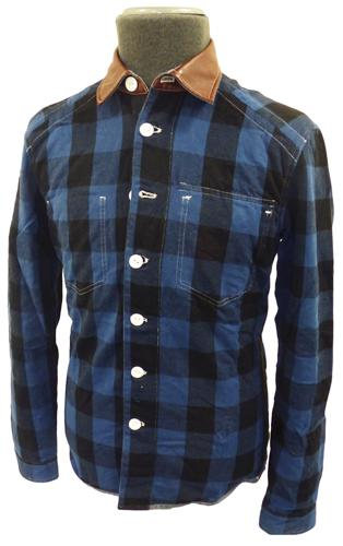 FULL CIRCLE MOT Reversible Check Chambray Shirt B