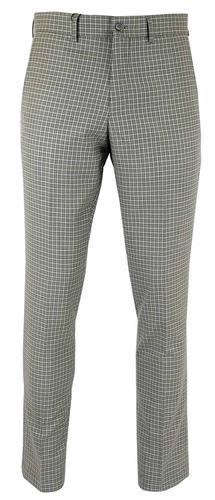 GABICCI VINTAGE BLACK WHITE DOG TOOTH TROUSERS