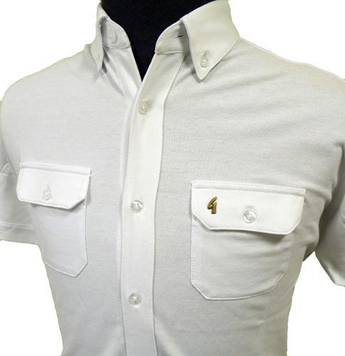 Charlton Gabicci Vintage Mens Jersey Pique Shirt W