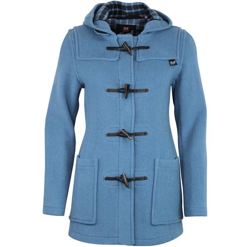 Gloverall Womens Slim Fit Duffle Coat in Blue