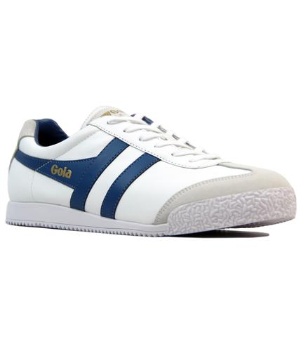 GOLA Harrier Retro Indie Leather Trainers (W/B)