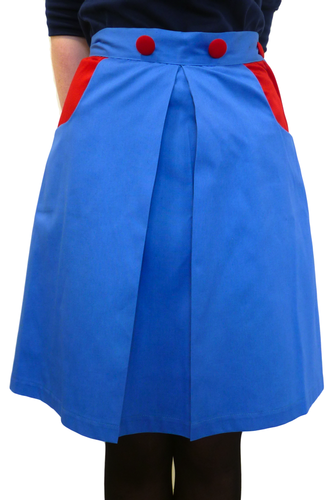 Womens Retro Pleated Skirt by Gonsalves & Hall BR