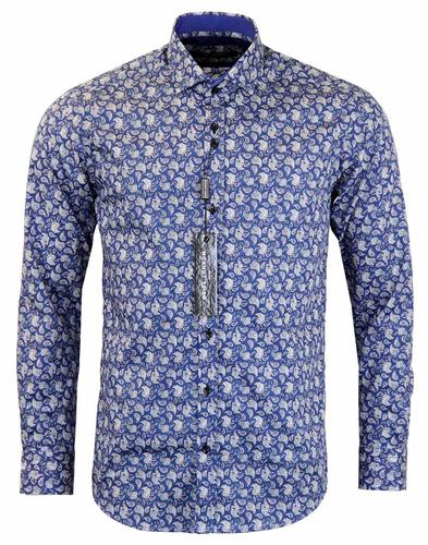 GUIDE LONDON RETRO PAISLEY SHIRT NAVY