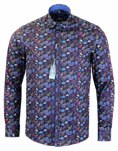 GUIDE LONDON RETRO RAINBOW PAISLEY SHIRT