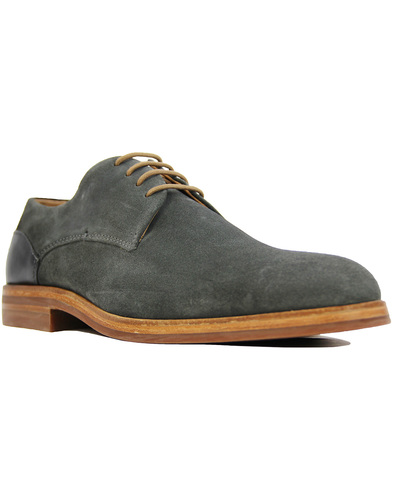Enrico H by HUDSON Retro Mod Suede Derby Shoes (C)