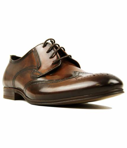 H BY HUDSON MANSFIELD HI-SHINE DARBY BROGUES TAN