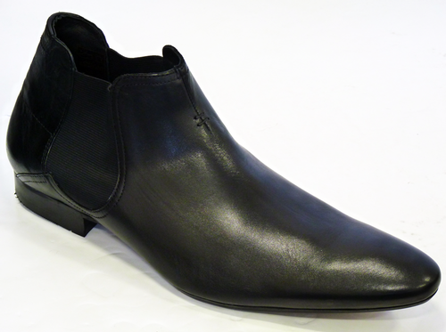 Moran H by HUDSON Retro 60s Mod Chelsea Boots (Bl)