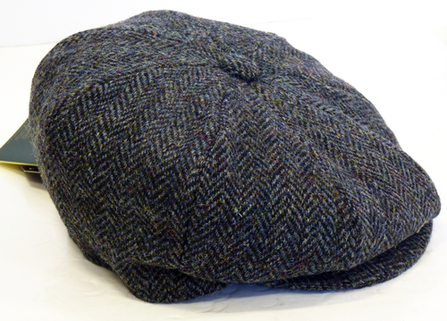 6c23c8180 Carloway Harris Tweed 8 Panel Cap | Retro 60s Mod Newsboy Gatsby Hat