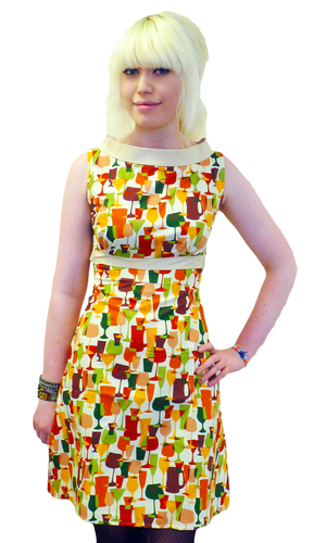 HEARTBREAKER FIFI DRESS CHEERS RETRO MOD SIXTIES