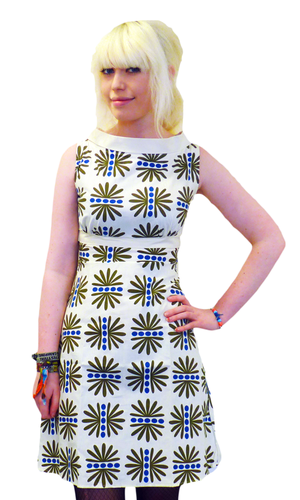 HEARTBREAKER FIFI DRESS ELKE RETRO MOD SIXTIES 60s