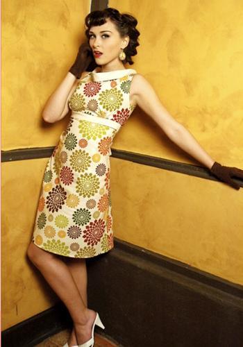 Heartbreaker Fifi Dress In Gizmo Retro Sixties Mod Dresses