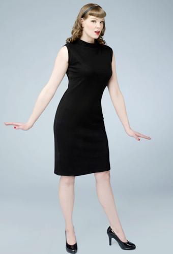 Heartbreaker \'Mod Dress\' in Black | Retro Sixties Mod Dresses