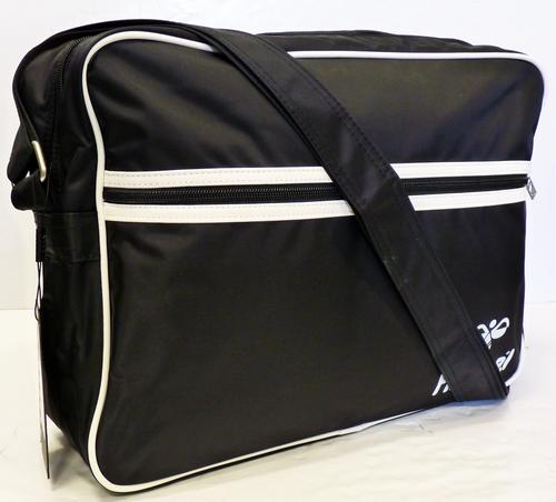 30% off!HUMMEL RETRO INDIE ICONIC LOGO MOD SHOULDER FLIGHT BAG (Black)