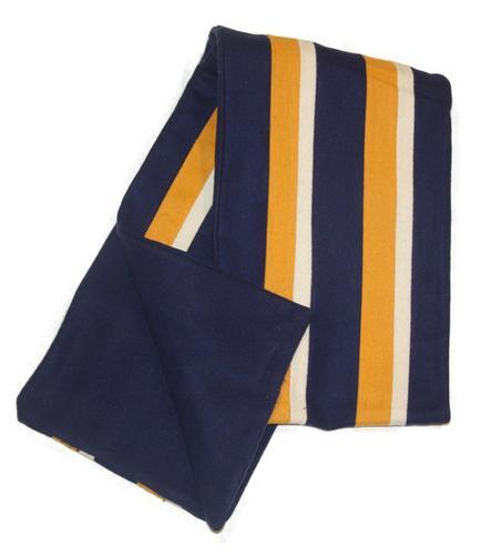collegiate scarf retro 60s mod stripe scarves royal blue white