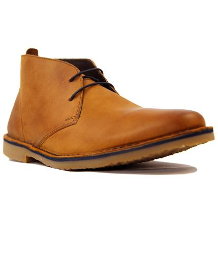Luger IKON Retro Mod Pull Up Leather Desert Boots
