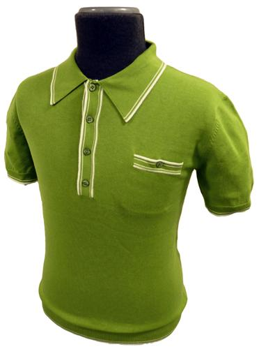 Sorry out of stock this is a vintage line which has for Knitted polo shirt mens
