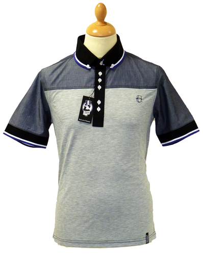 Moriarty JEKYLL AND HYDE Retro Indie Mod Polo Top