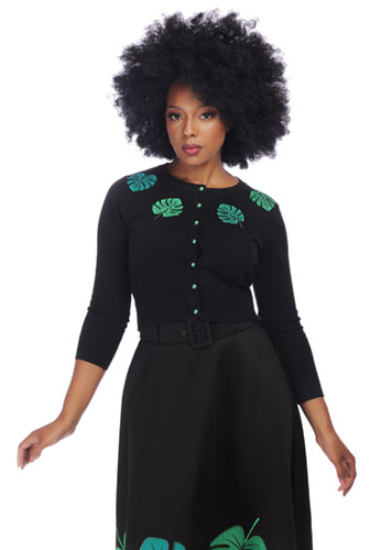 Collectif Jessie Tropical Palm Cardigan