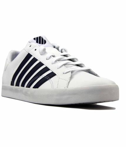 K-SWISS BELMONT SO WHITE NAVY TRAINERS