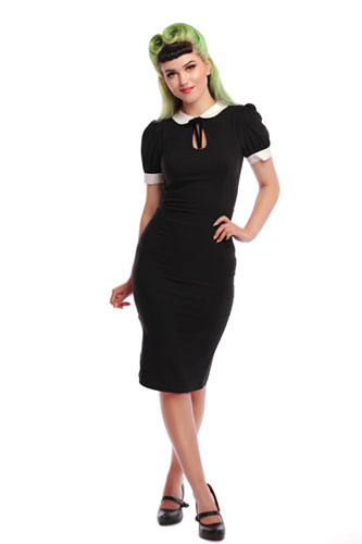 Collectif Mod Khloe Pencil Dress in Black