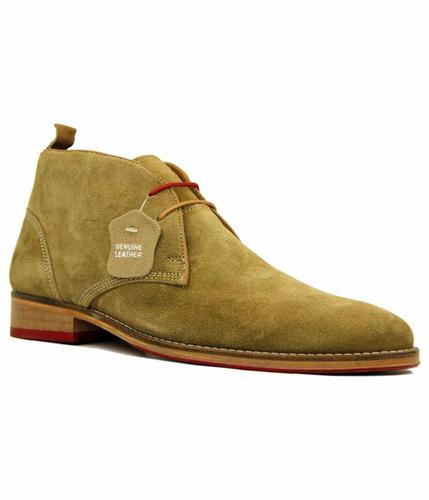KINGSTON SUEDE PAOLA VANDINI TAN DESERT BOOTS