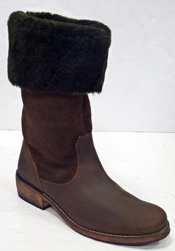 3cd5ecda01964 Balthazar LACEYS Retro 60s Mid Calf Boho Boots
