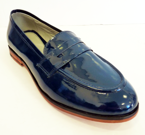 Holga LACEYS Retro Sixties Patent Mod Loafers (N)
