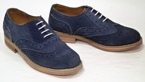 'Joratio Brogues' - LACEYS Womens Retro Mod Shoes