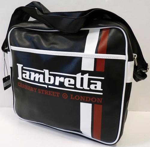 b647f4f02bb9 Lambretta Racing Stripe Retro Mod Shoulder Bag (B)