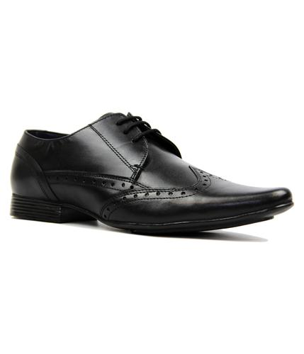 LAMBRETTA BLACK RETRO BROGUES