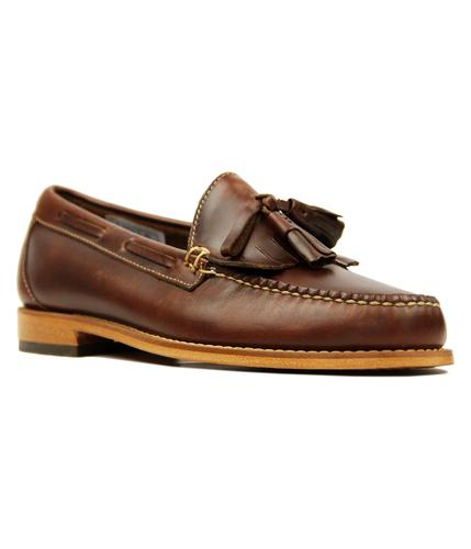 Layton Pull Up BASS WEEJUNS Tassel Fringe Loafers