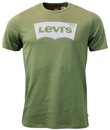 LEVI'S® Retro Mod Indie Batwing Logo T-Shirt Olive