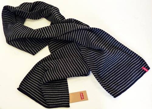 LEVI'S® Retro Indie Knitted Stripe Mod Scarf (S/B)