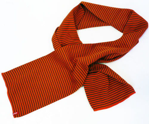 LEVI'S® Retro Indie Knitted Stripe Mod Scarf (O)