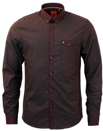 Jan The Man LUKE 1977 Retro Mod Gingham Shirt